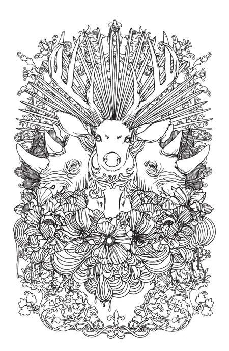 stunning wild animals coloring page