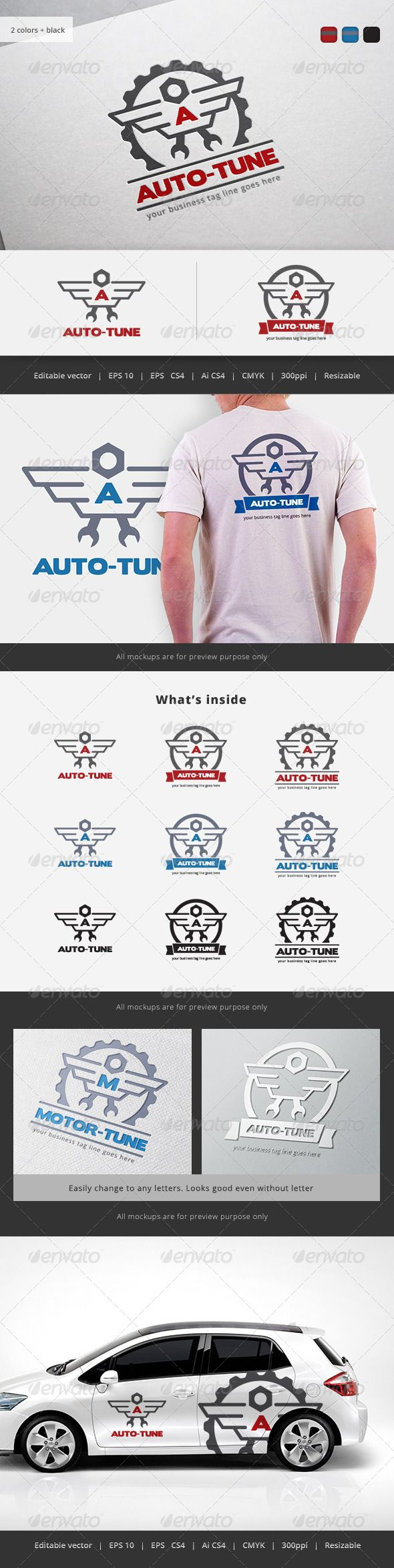 Auto Tune Logo — Vector EPS #nut #shop • Available here → https://graphicriver.net/item/auto-tune-logo/5722706?ref=pxcr
