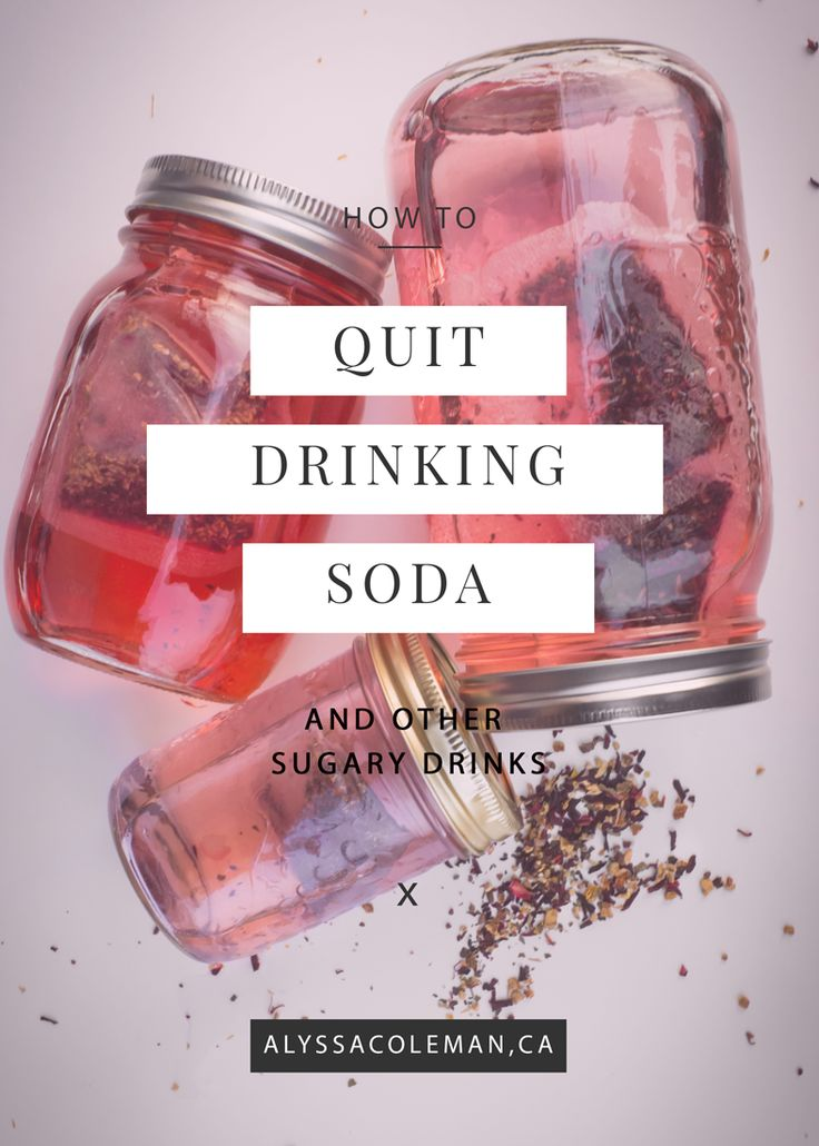 how to quit drinking soda, give up diet coke and other sugary drinks with this recipe