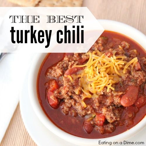 Try this easy ground Turkey Chili recipe where you can sneak in veggies in too! Our family doesn't even know we are eating ground turkey or zuccini!