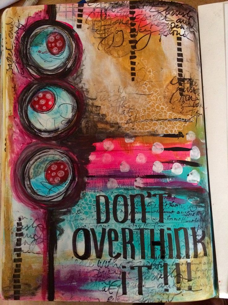 15 minute mixed media art journal page | Flickr - Photo Sharing!