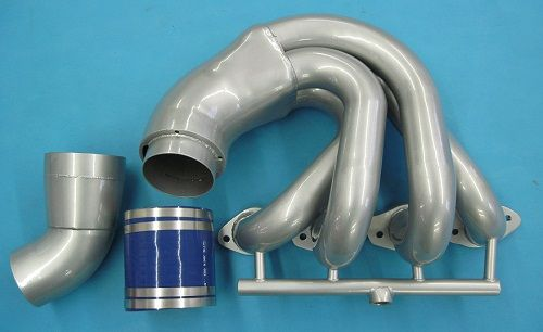 """LIGHTNING ALL STAINLESS BIG BLOCK CHEV LOW PORT HEADER 2"""" PRIMARY 36"""" OVERALL WIDTH"""