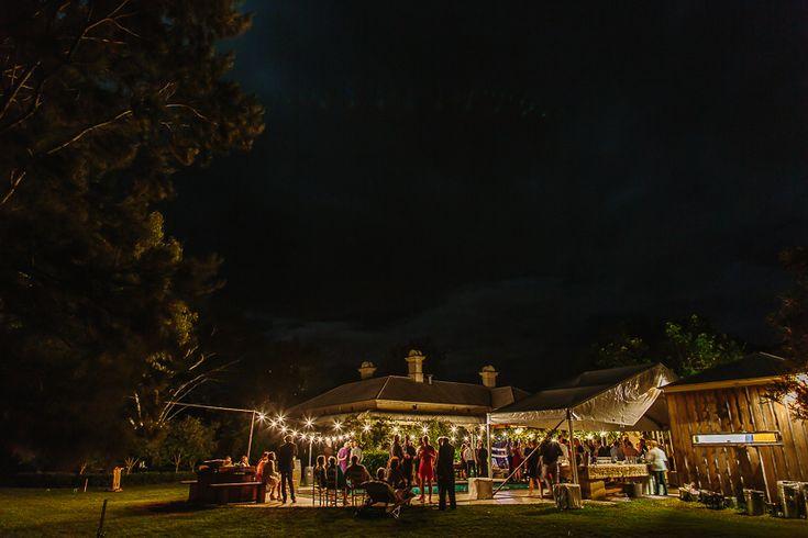 Night falls on a gorgeous Mindaribba House wedding     PHOTO CREDIT: Ben Howland - @benhowland
