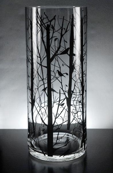Tree Amp Bird Silhouette Candle Holder Wedding Ideas