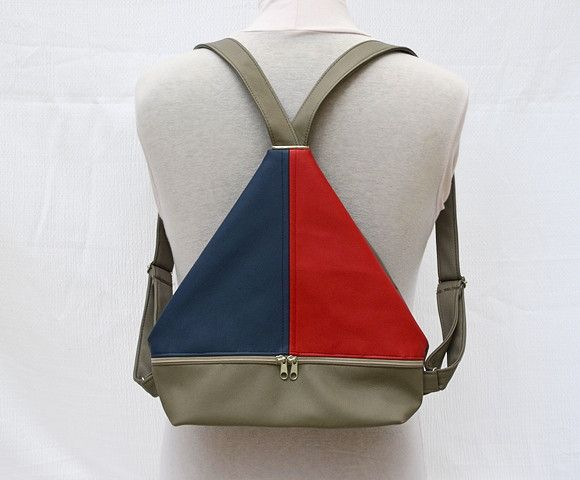 Backpacks – Mini Backpack with front zipper pocket. – a unique product by Loutik on DaWanda