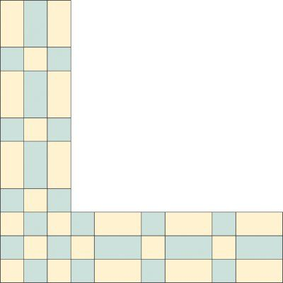 The checkerboard-inspired Bars and Blocks Quilt Border Pattern makes a lively border. Download the free quilt border for your next quilting project.
