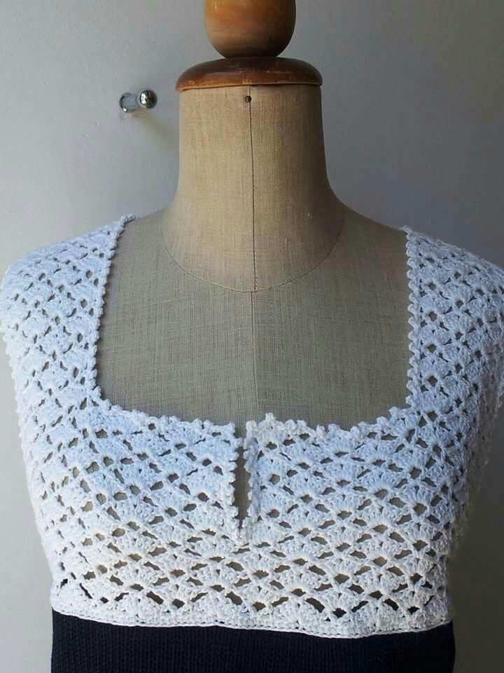 Particolare corpetto crochet del vestito
