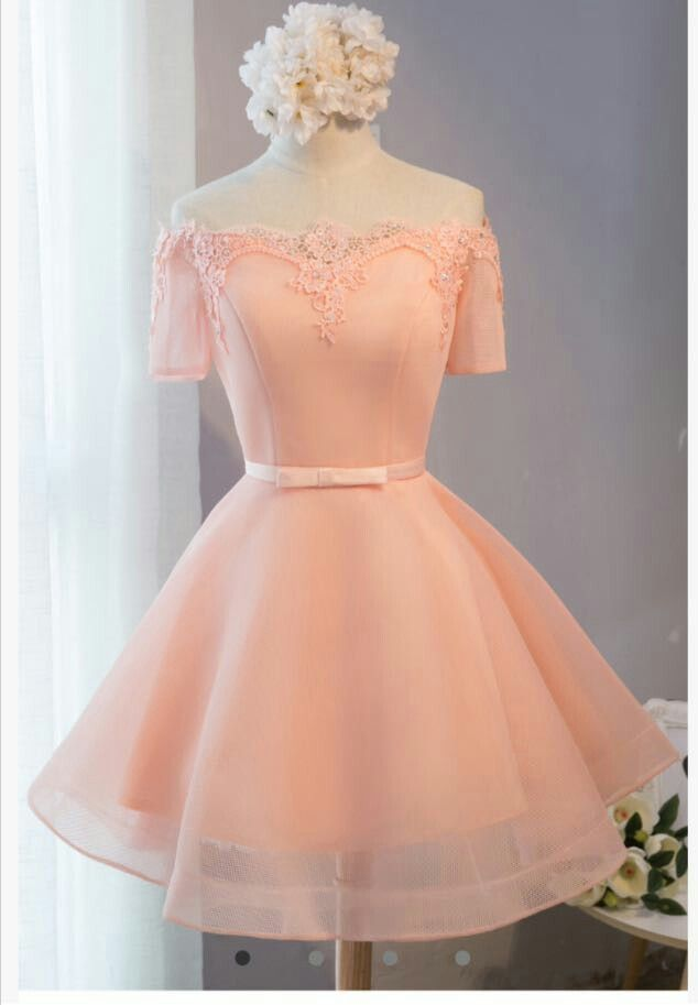 Pretty pink confection if a dress