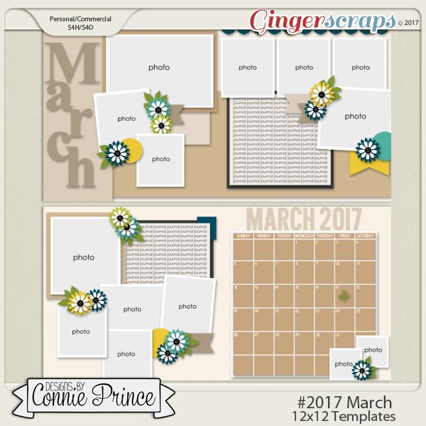#2017 March - 12x12 Template Pack (CU Ok)