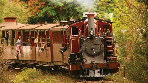Day Trip: Puffing Billy Steam Railway, Australia's oldest steam railway, travels through the forests and fern gullies of the Dandenong Ranges from Belgrave.