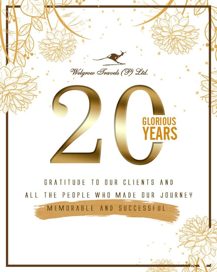 Gratitude to our clients and all the people who made our #journey memorable and sucessful.   www.welgrowgroup.com   #20GloriousYears #Celebrating20Years #Travel #LuxuryTravel #LuxuryTourOperators #LuxuryTour