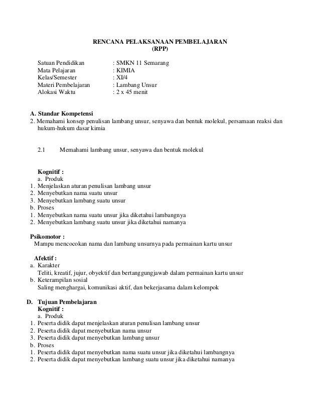 RENCANA PELAKSANAAN PEMBELAJARAN                                          (RPP)      Satuan Pendidikan          : SMKN 11 ...