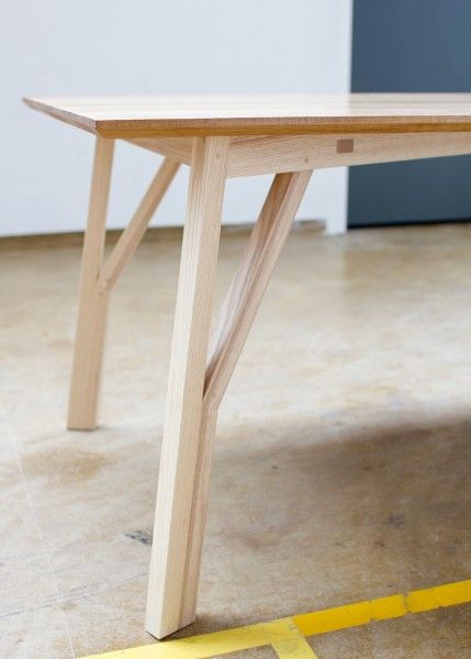 STA / X Table The Table Caries Itu0027s Name From The Crossed Apron  Construction. That In Turn Positions The Outward Sloping Legs, Towards The  Corners, ...