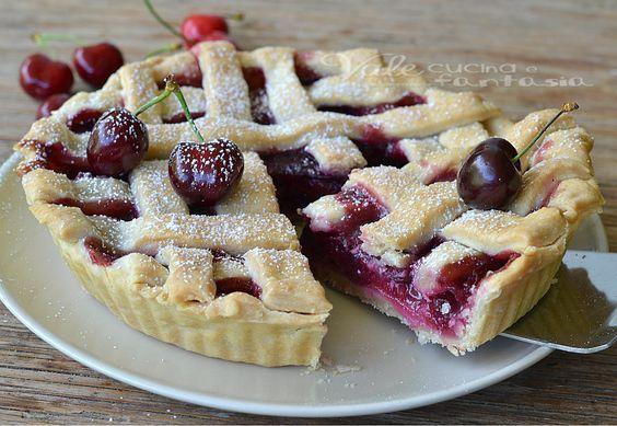 Cherrye pie (crostata di ciliegie americana) un dolce buonissimo, una ricetta facile, ricetta americana,ricetta con le ciliegie che si scioglie in bocca