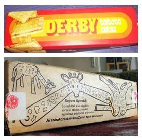 Derby keksz - retro gastro - retro édesség