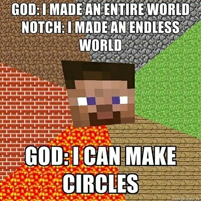 Epic battle between Notch and God😂😂