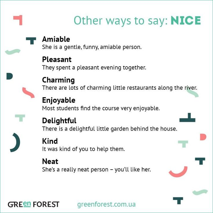 Other ways to say: Nice
