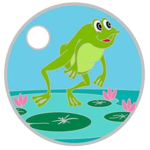 2013-29067 Grenouille 2 pathtag Geocoin alt Geocaching SWAG