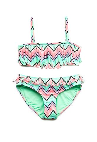 Festive Fringe Two-Piece Swimsuit (Kids) | FOREVER21 girls - 2000088358 http://www.forever21.com/Product/Product.aspx?BR=girls&Category=girls_swim&ProductID=2000088358&VariantID=