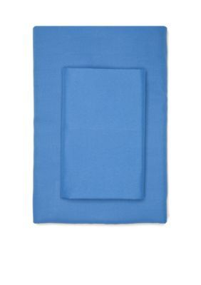 Home Accents Blue Super Soft Microfiber Solid Twin XL Sheet Set