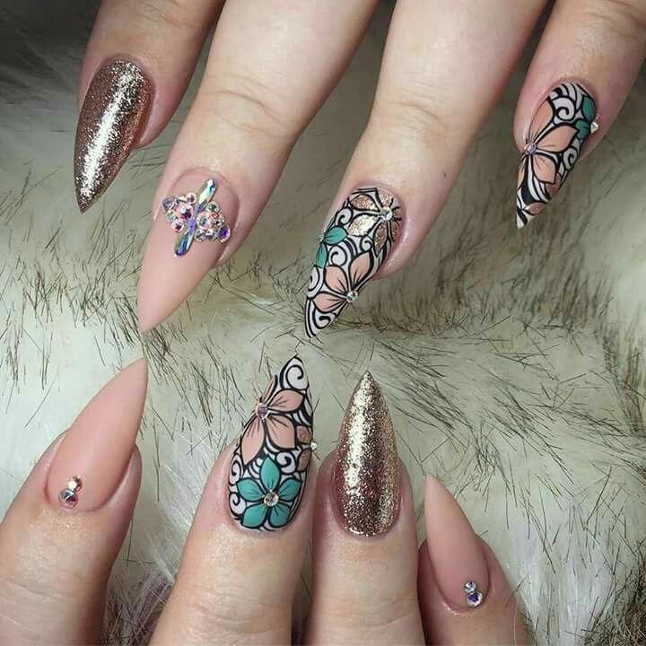 1232 best Mi estilo de uñas!!! images on Pinterest