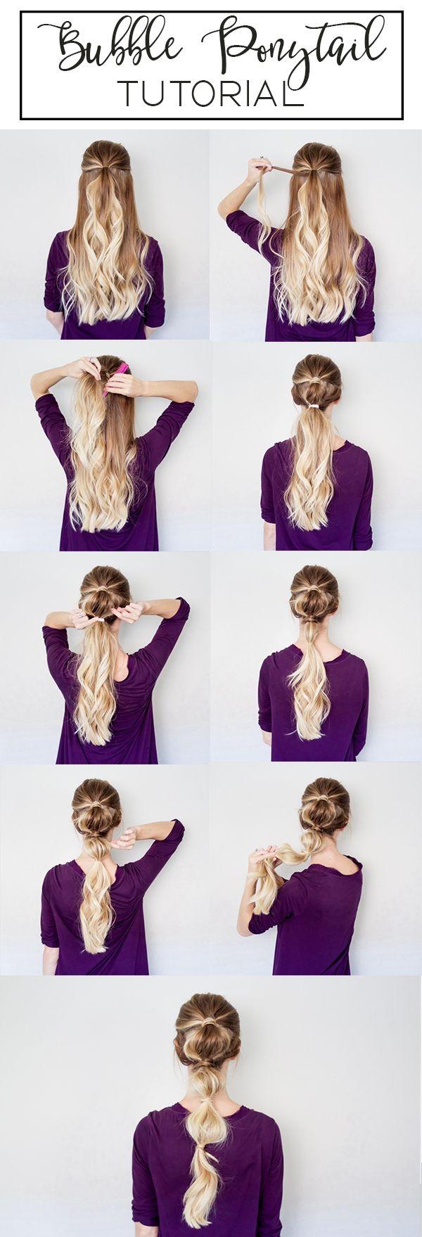 Astonishing 1000 Ideas About Bubble Ponytail On Pinterest Braids Waterfall Short Hairstyles For Black Women Fulllsitofus