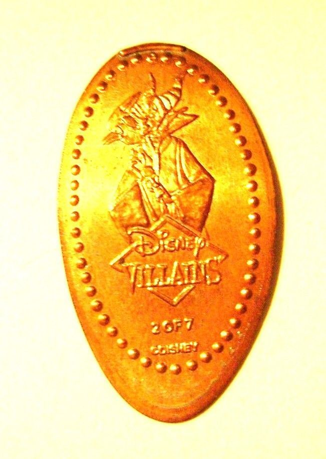 Elongated Pressed Penny Coin - DISNEY VILLAINS 2 OF 7- MALEFICENT -WDW - FLORIDA