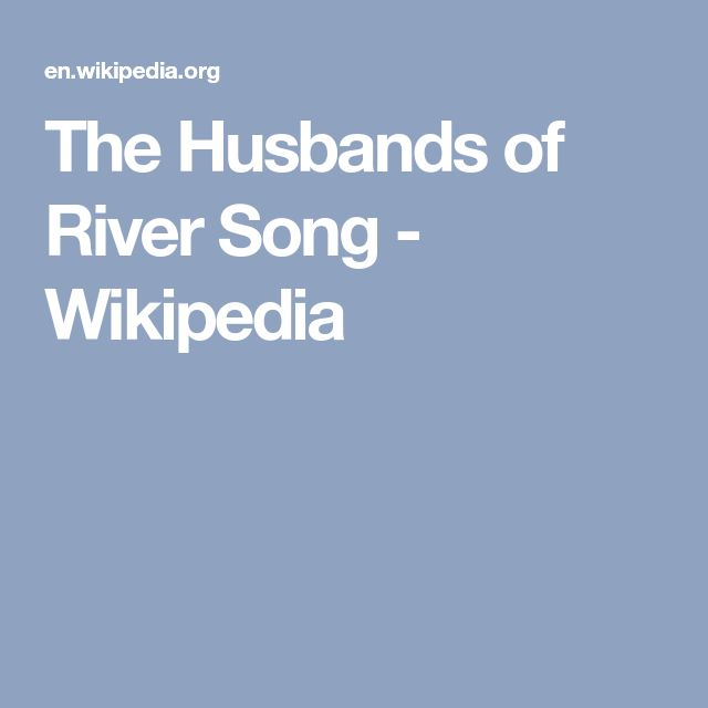 The Husbands of River Song - Wikipedia
