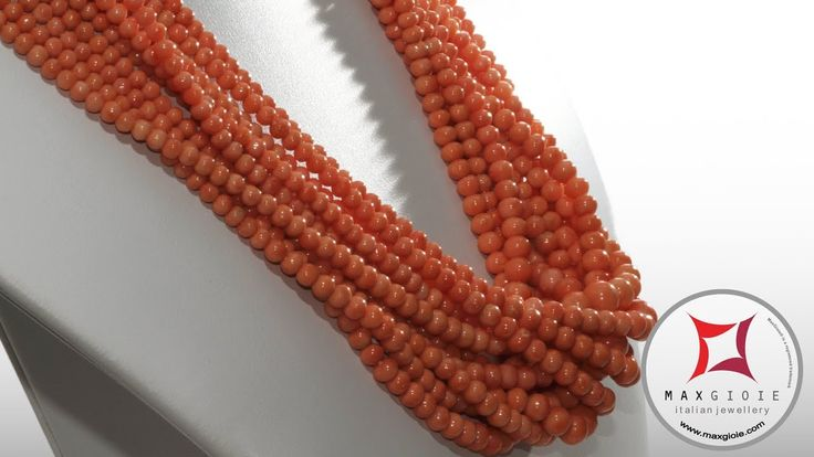 Extra Sciacca Coral Necklace round 3½-8mm graduated in Gold 18K Collana Corallo Sciacca Extra pallini graduati 3½-8mm in Oro 18K #corallo #corallotorredelgreco #corallorosso #genuinecoral #redcoral #corallosciacca #sciaccacoral #jewelery #luxury #italianstyle #gold #silver #store #collection #shop #shopping #showroom #madeinitaly #necklace #necklaceforsale