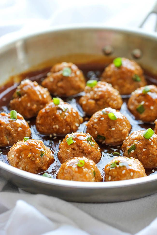 Asian Quinoa Meatballs Healthy, nutritious and packed with so much flavor. Perfect as an appetizer or a light dinner!