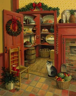 Charlotte Joan Sternberg, Christmas Kitchen Closet