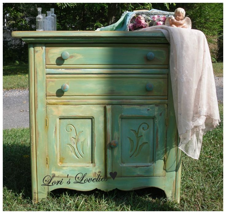 shabby ,cabinet,painted green, vintage,distress ,furniture