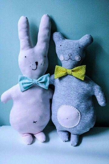 Pan Ę i Pan Ą / misie / teddybears and softies