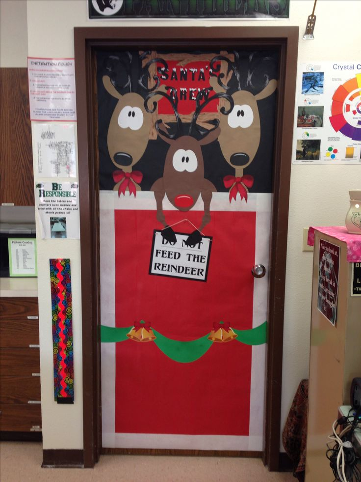 Classroom Decoration Ideas Fortune ~ Classroom christmas door decoration
