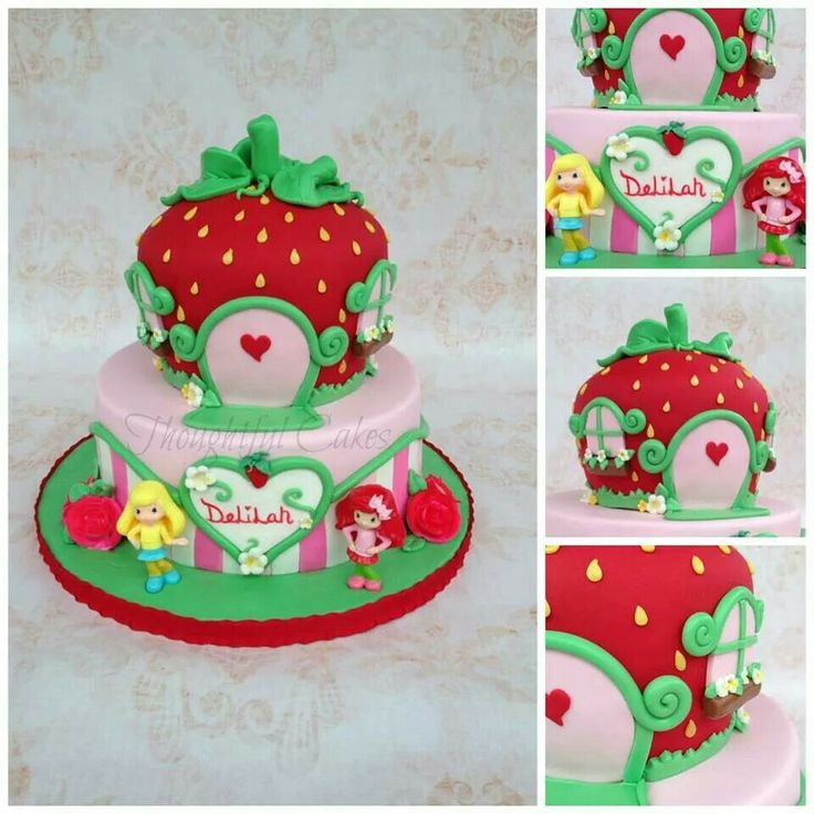 Strawberry Birthday Cake X