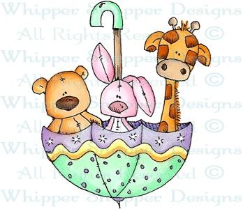 Baby Zoo Umbrella - Baby Images - Baby - Rubber Stamps - Shop