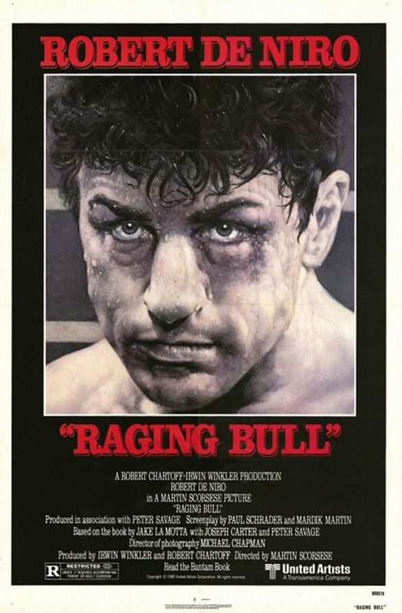 Raging Bull (1980) - Robert DeNiro's Oscar winning performance as embittered real-life boxer Jake LaMotta is great!