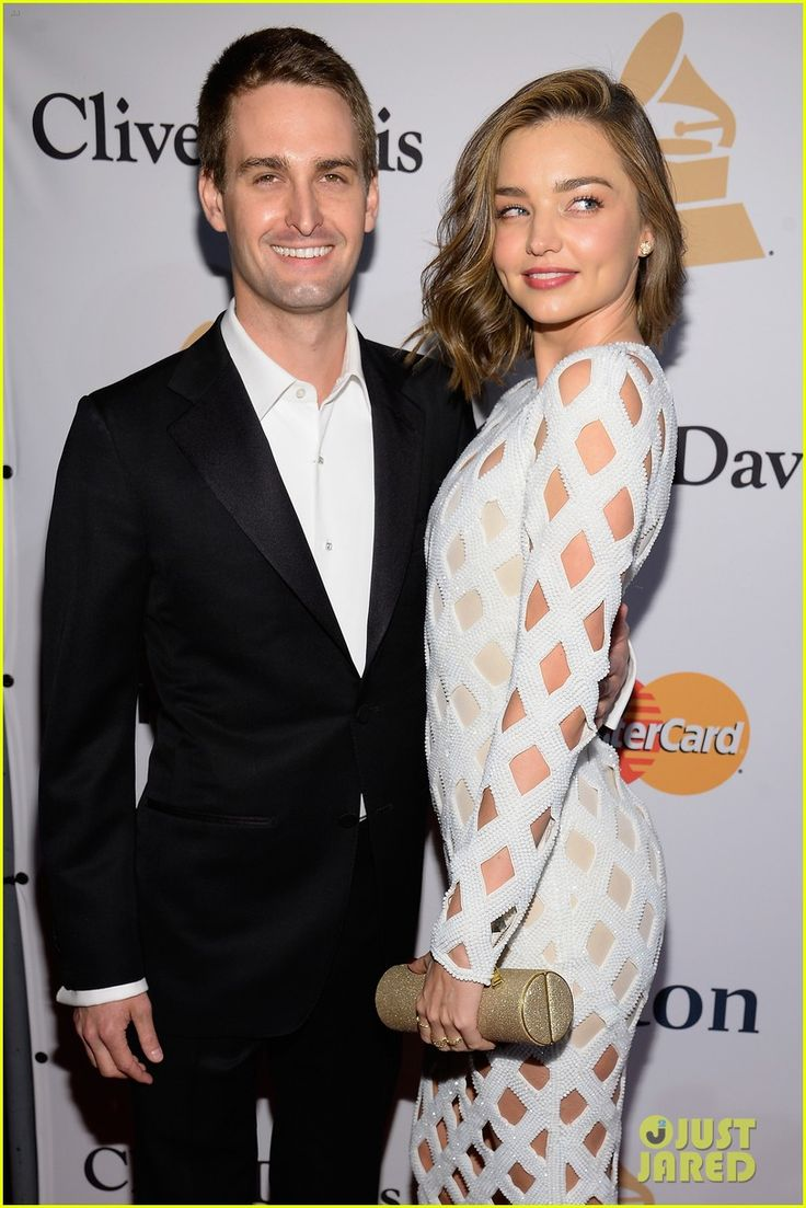 Miranda Kerr & Evan Spiegel Make Their Red Carpet Debut at Clive Davis' Grammys 2016 Gala!