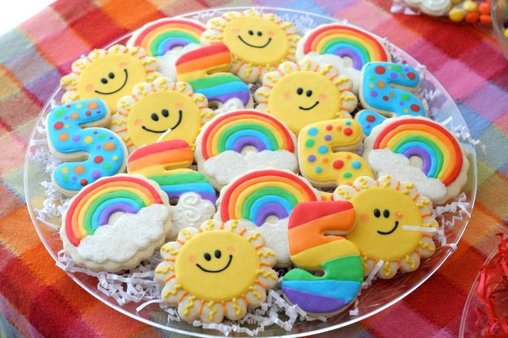 rainbow cookies, beautiful cookie creations