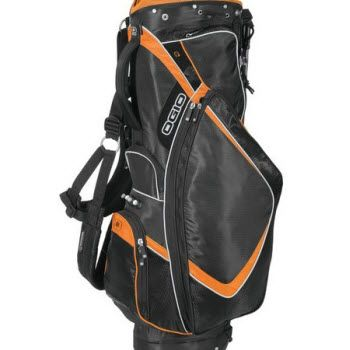 Embroidered CC Stand OGIO Golf Bag is made of 9-inch Woode 4.0 top.  Details:  Custom OGIO Golf Bag is designed with ArcLite stand system.  5 zippered pockets for storage 1 detachable pocket Neoprene slim handle Zippered water-resistant rain hood LiftGrip™ built-in trunk handle Fleece-lined weather-resistant pocket Walking accessible holster for water bottle