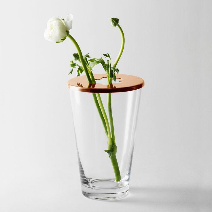 Desing House Stockholm maljakko Fokus Vase, 39,95 € (Norm. 69,95 €). Lasia, irroitettava kansi. Hemtex, 3. krs.