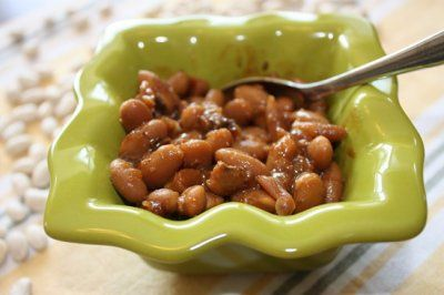 Slow Cooker Boston Baked Beans (kind of diet friendly)