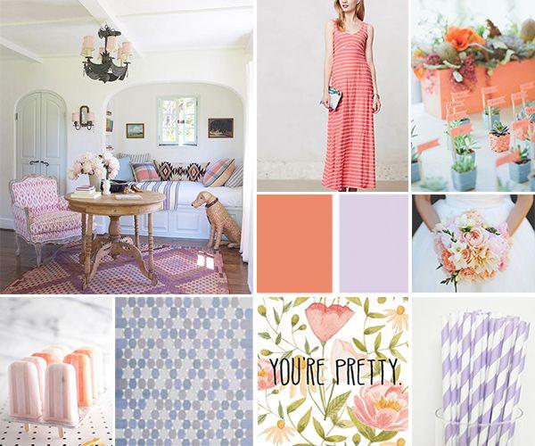 Color Palette: Coral & Lavender