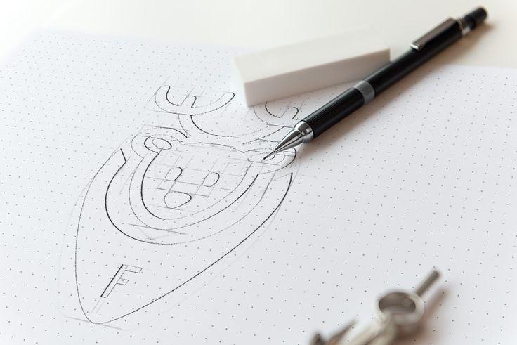 Seperti inilah proses desain kreatif pembuatan logo http://dibogor.com
