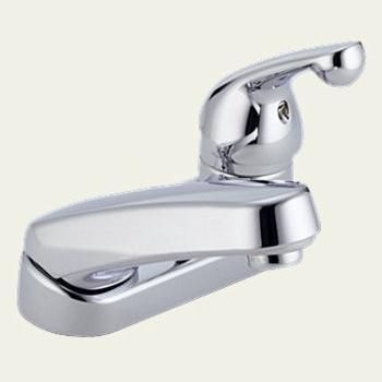 "Most midcentury bathrooms have a sink with a 4″ faucet spread. How about using this Delta faucet with a nifty, pull-out shampoo sprayer? It reminds me of the 40s 50s and 60s when we all had ""curlers in your hair, shame on you!"" This faucet available from Locke Plumbing. Other 4″ bathroom faucet choices: Deco …"