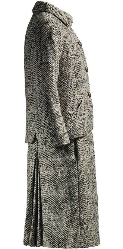 Balenciaga Traje sastre en tweed donegal de lana bicolor 1967 Perteneció a Mrs. Rachel L. Mellon.