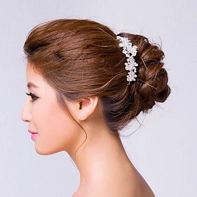 Vrouwen Bergkristal/Licht Metaal Haarspelden Met Bergkristal Bruiloft / feest hoofddeksel – EUR € 13.63