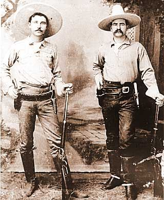 Rangers George Black and J. M. Britton, ca. 1895 ©1999, Texas Ranger Hall of Fame and Museum