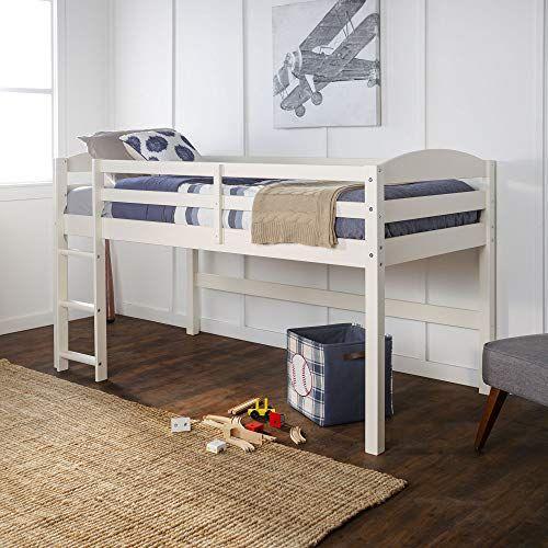 We Furniture Azwstollwh Loft Twin Bed White Low Loft Beds Loft Bed Loft Bed Frame