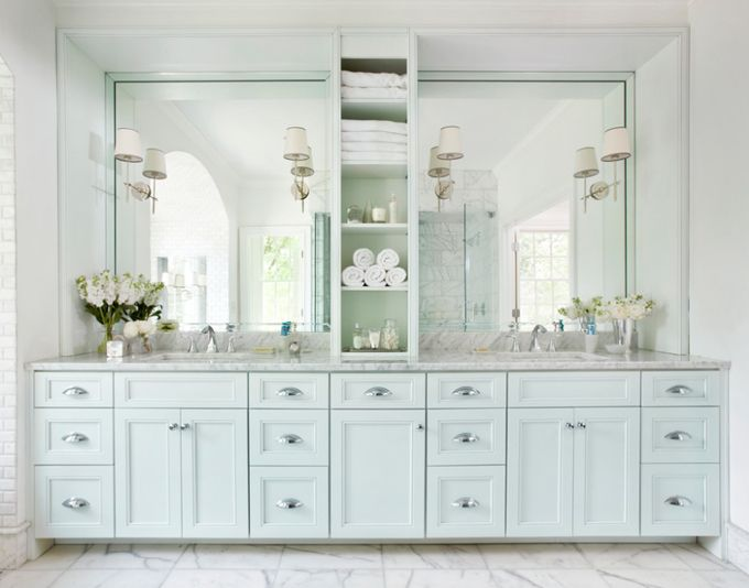 Lighting on the mirrors - House of Turquoise: Mark Williams Design Associates - Interior Design - Home Decor - #design #decor #interiordesign